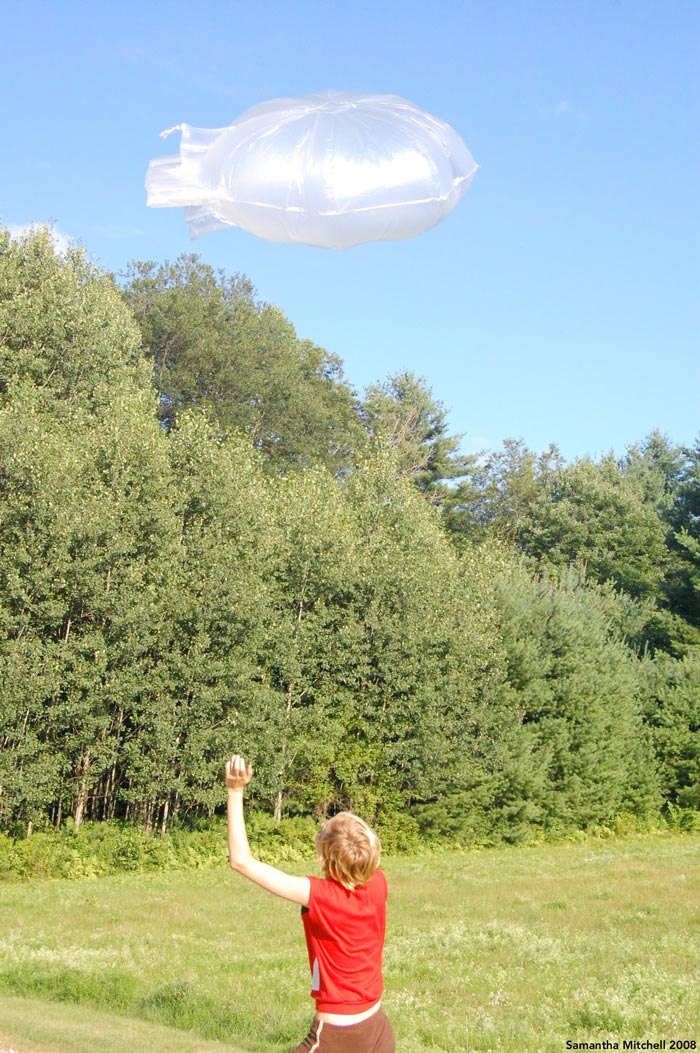 1/8 scale model of a kite balloon