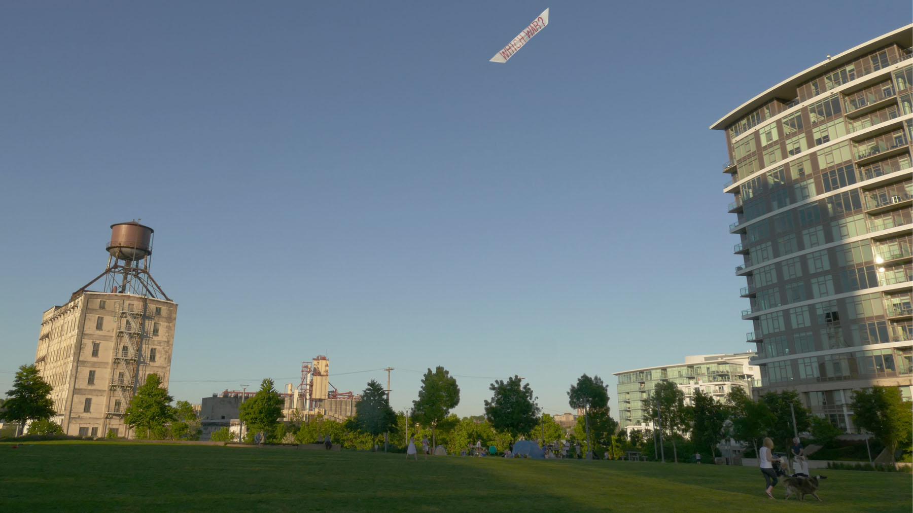 Flying signs: kite banners