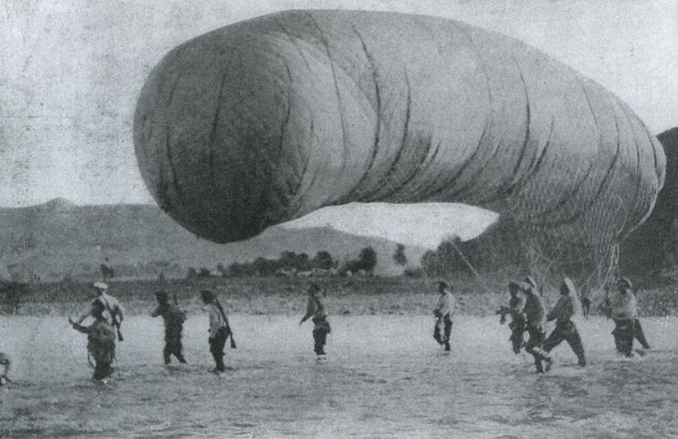 Russian balloon at the battle of Liaoyang