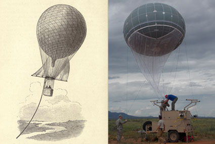 Image from page 40 of Airships Past and Present: 1908, Army Wasp Aerostat, image: US army