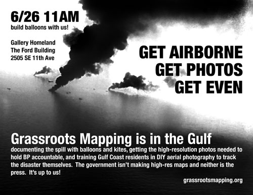 Grassroots Mapping @ Gallery Homeland 6/26