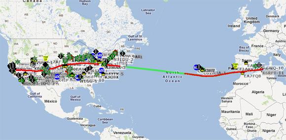 1st Transcontinental & 1st Trans-Atlantic Balloon Overflight- California Near Space